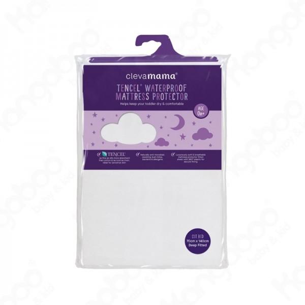 CLEVAMAMA Tencel matracvédő gumis lepedő 70x140